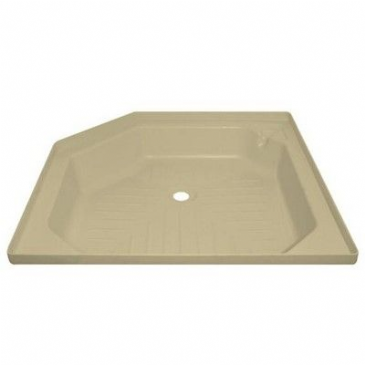"Caravan/Motorhome ANGLED SHOWER TRAY 27"" X 27"" SOFT CREAM"